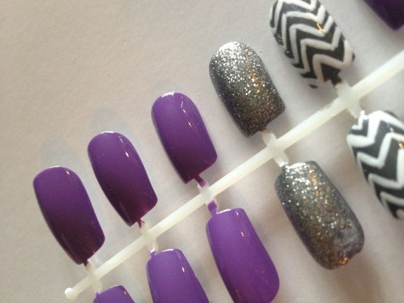 Purple and Gray Glitter