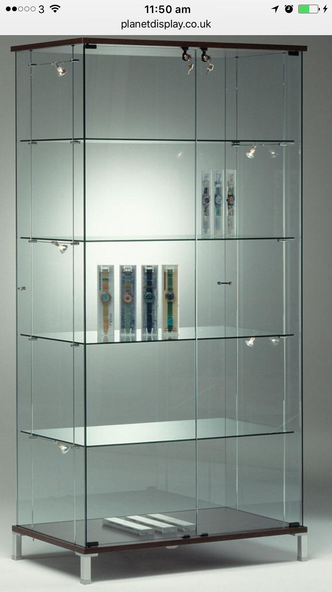 Display For Figures Glass Showcase Glass Display Case Door Glass Design