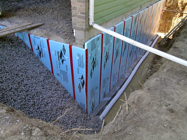 Waterproofing At Foundation Waterproofing Basement Building A