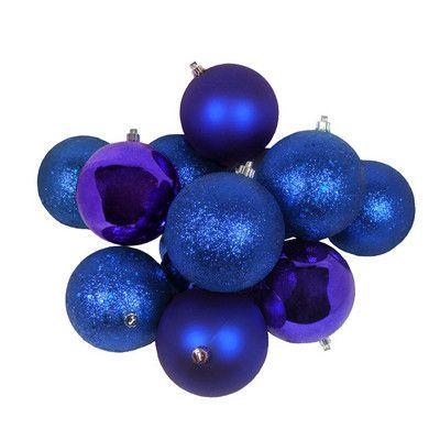 Northlight 32 Piece Shatterproof Champagne Christmas Ball Ornament Set Color Royal Blue Christmas Balls Christmas Ornaments Christmas Ornament Sets