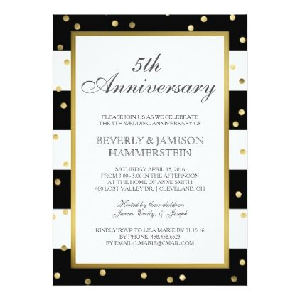 Sparkling Stripes 5th Wedding Anniversary Party Invitation Zazzle Com 50th Wedding Anniversary Party Wedding Anniversary Party 60th Wedding Anniversary Party