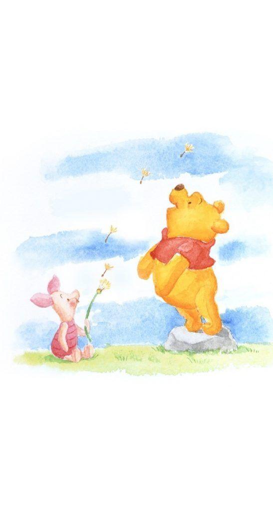 Cute Pooh Bear Wallpapers 手書き風くまのプーさんその1iphone壁紙 Iphone 5 5s 6 6s Plus Se Wallpaper