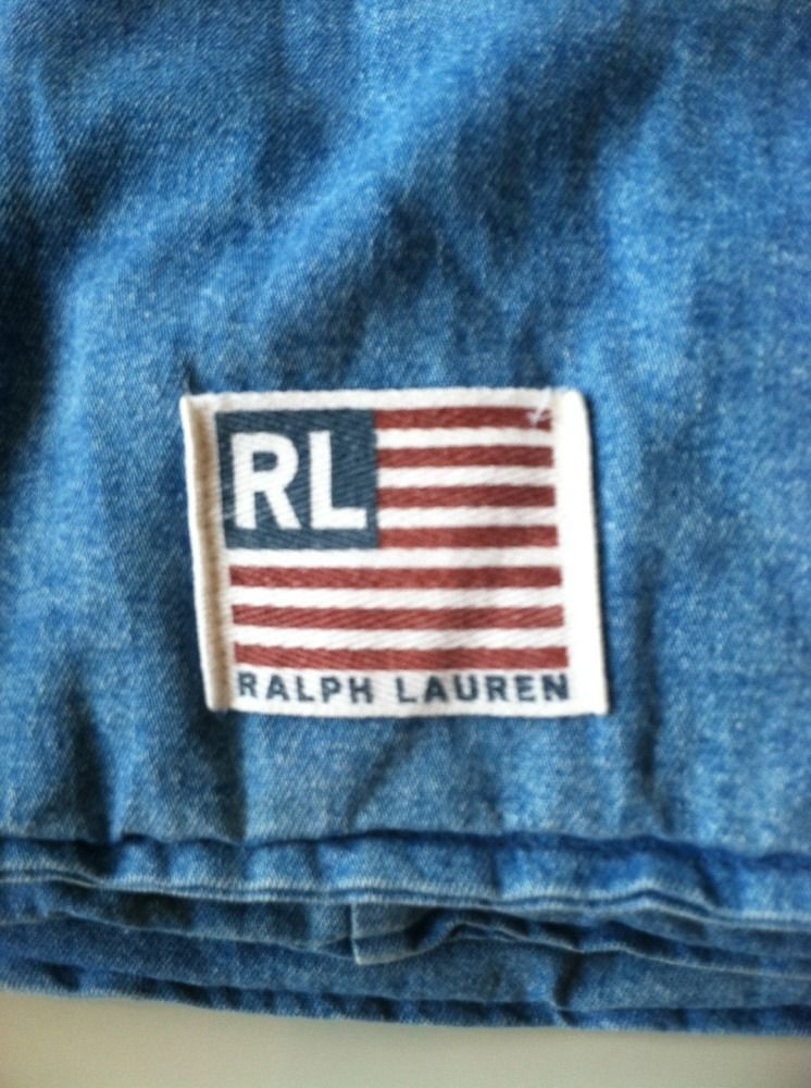 Polo Sport Ralph Lauren Cotton Denim Queen Full Bed Cotton