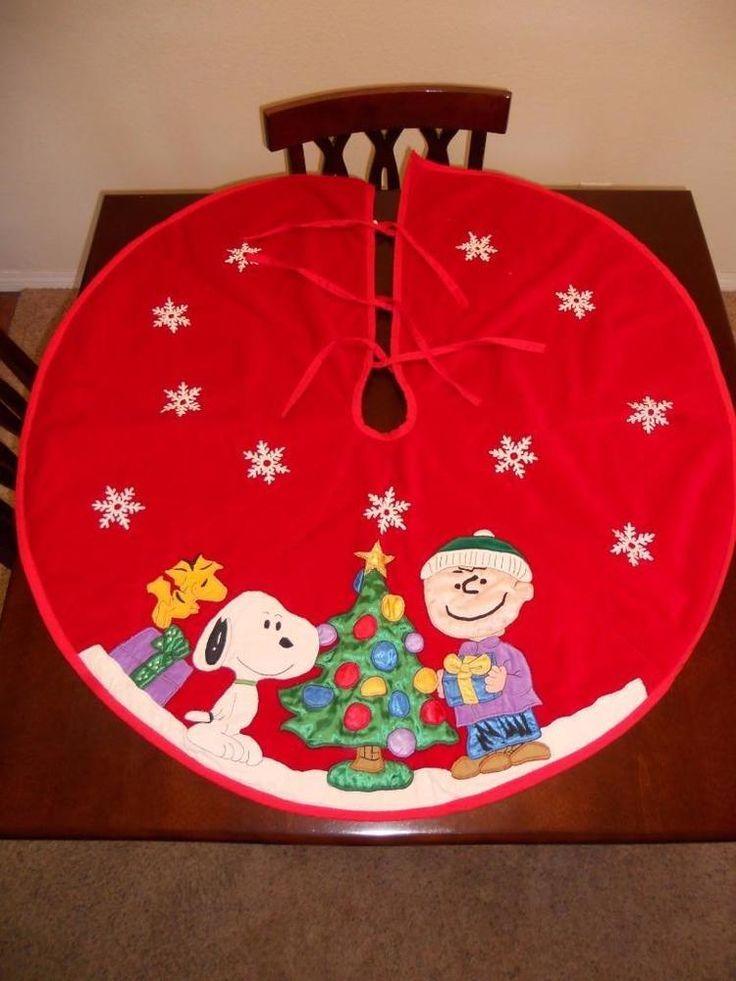 Peanuts Snoopy Charlie Brown Christmas Tree Skirt - Peanuts Snoopy Charlie Brown Christmas Tree Skirt Christmas