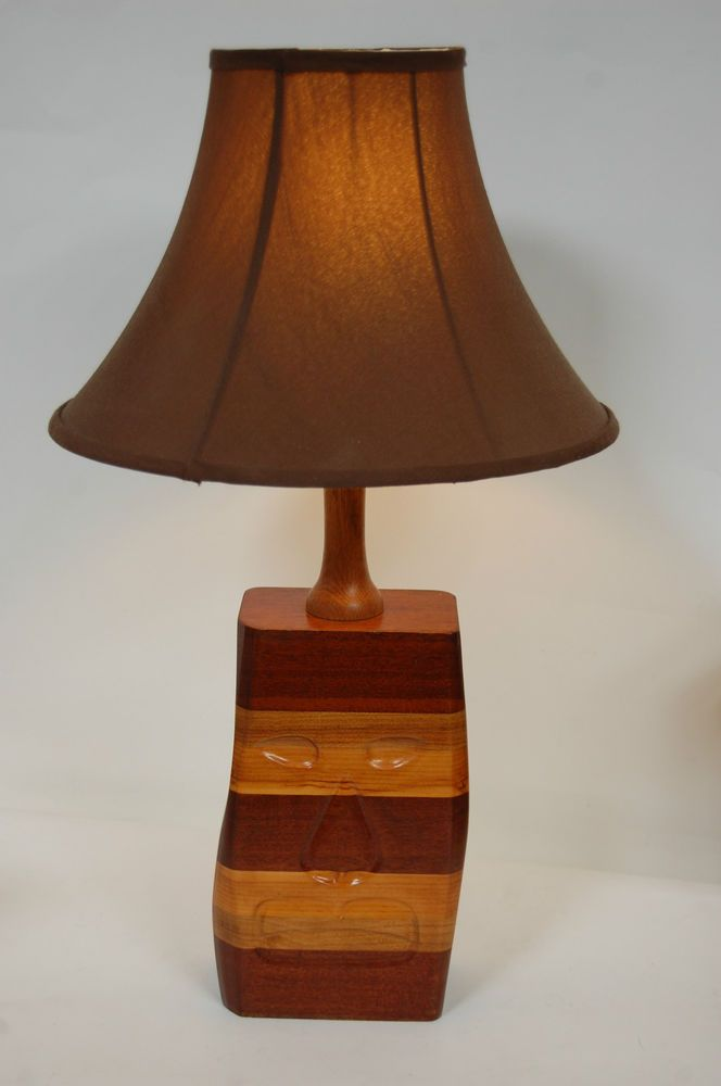 Vintage retro 1970s unusual large wooden table lamp carved face fwo vintage retro collectables 1970s ebay wooden table lampsvintage lighting1970s greentooth Images