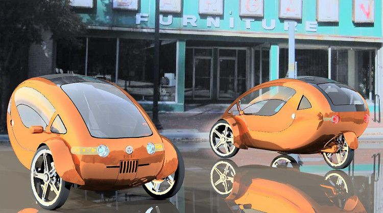 Is This Solar Powered Half Electric Bicycle With A Roof The Future Of Transportation Electric Bicycle Solar Car Bicycle