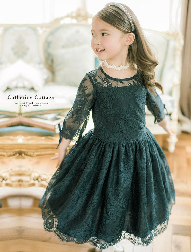 cb90086426765 気品レースドレス Catherine Cottage レディーなオーラをまとう レース生地を贅沢に使っ