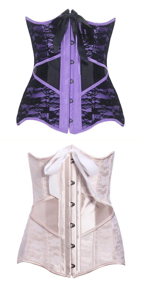 Sexy shapewear gothic lace bustier steel boned slim hourglass corset ...