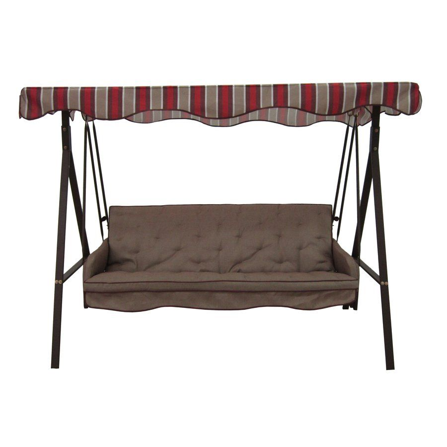 Garden Treasures 3 Seat Cushioned Porch Swing Lowe S Canada