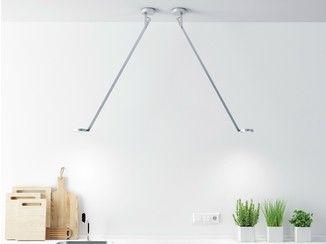 Luminária de teto LED de alumínio extrudado com braço articulado STRING H0 - Rotaliana