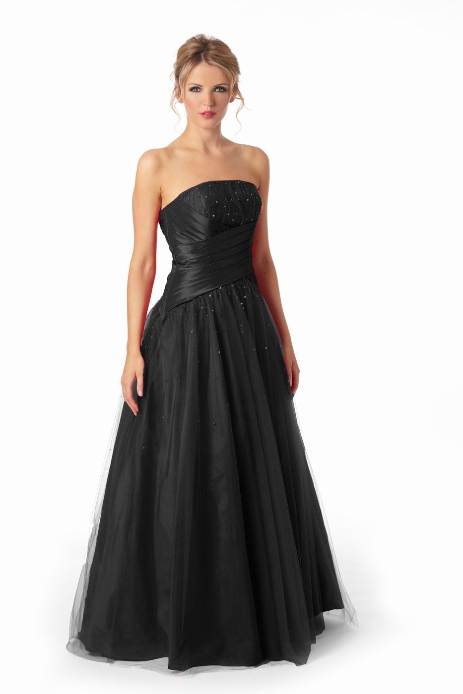 Black gloves evening wear - Ava A Stunning Black Tulle Prom Dress Add High Opera Gloves For A Classic Hepburn