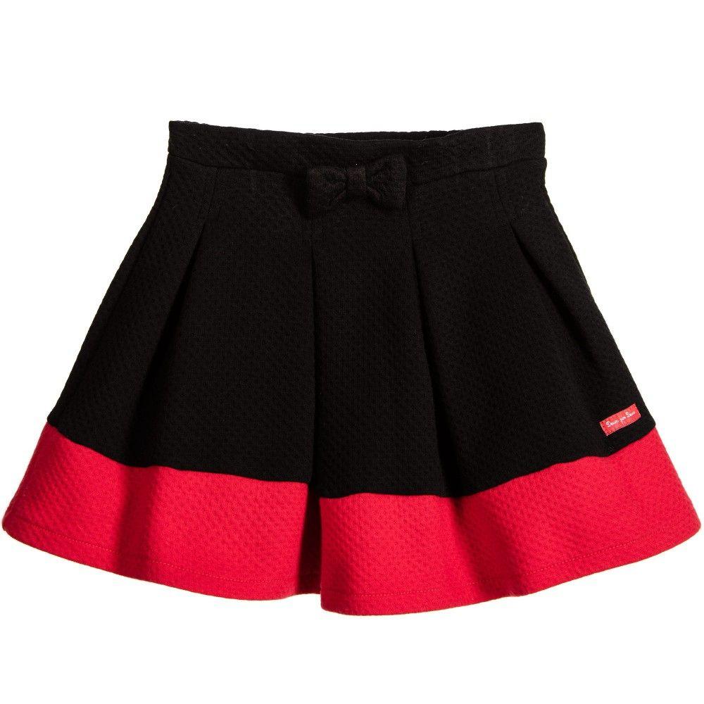 Deux Par Deux Girls Black & Red Skirt at Childrensalon.com