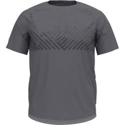 Odlo Herren Trainingsshirt Concord, Größe L in grey melange - mountain stripe, Größe L in grey melan