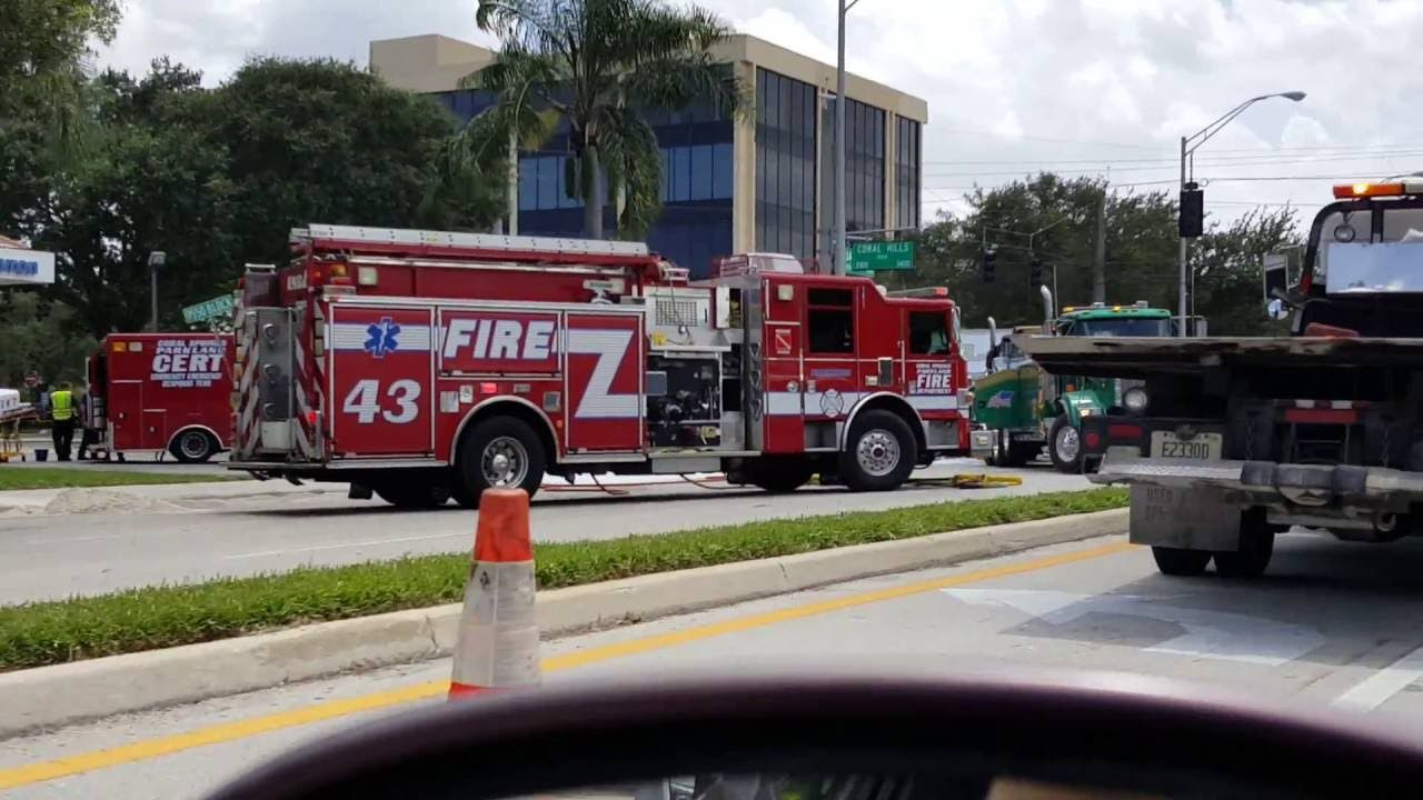 This is a horrific accident we drove by today in Coral