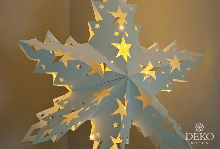 diy großer adventsstern aus papier zum aufhängen deko