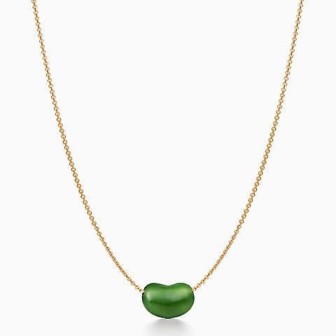 53e9b654a970b Elsa Peretti® Bean® pendant of grean green jade and 18k gold.   What ...