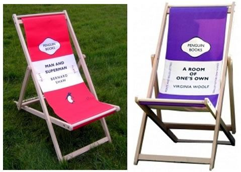 Attractive For The Avid Reader Or Literary Poseur Who Likes To Lounge Outdoors:  Penguin Classics Deck Chairs!