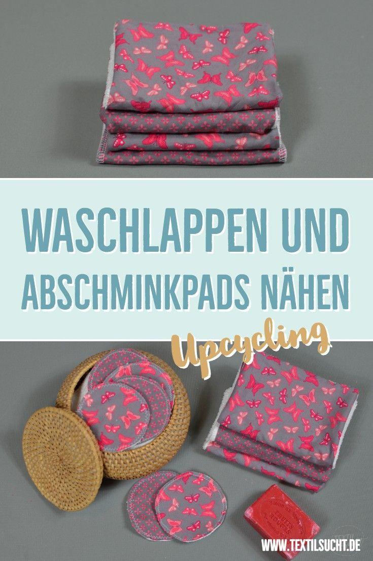 Upcyclingidee: Abschminkpads und Waschlappen aus Stoffresten nähen #scrapfabric