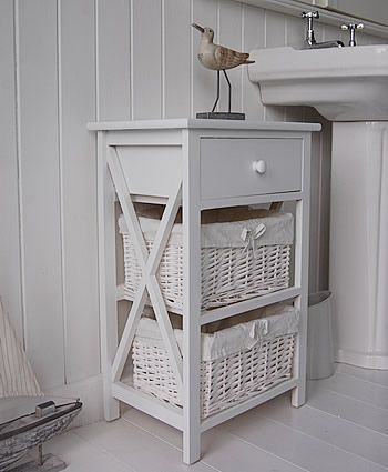 Attractive New Haven 3 Drawer Bathroom Cabinet Side View