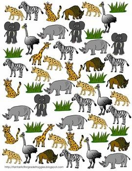 Find Tally And Graph African Grasslands Savannah Chat Animal Habitats African
