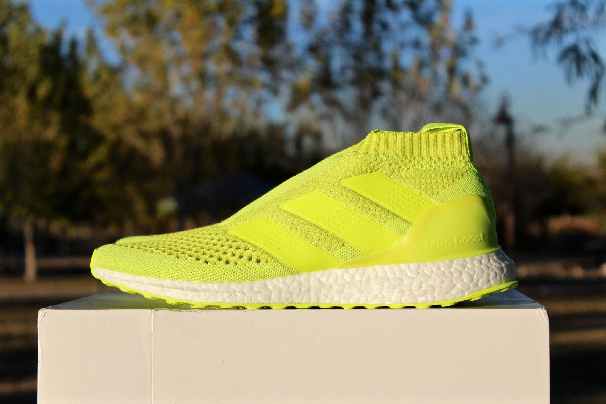 93b244d9a3090 Adidas Ace 16 Purecontrol Ultra boost Triple White from