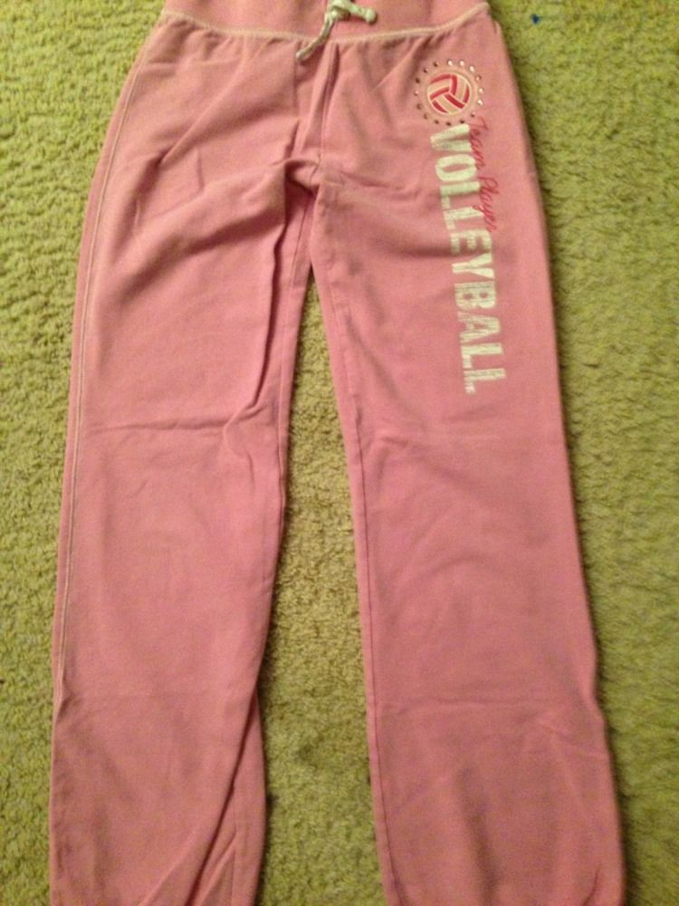 Girls CANYON RIVER BLUES Knit Pants Pink Large 14/16 Embellished Volleyball EUC