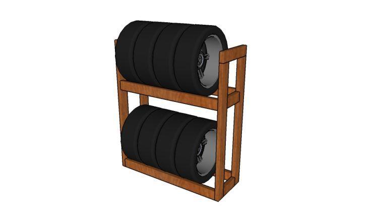 Diy Tire Rack Plans Diy Plans Tire Rack Garage Shelving Diy