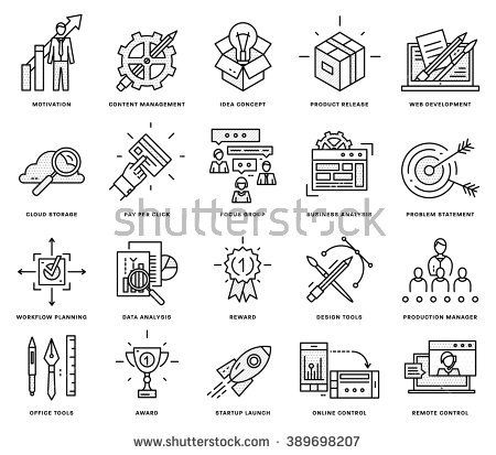 Thin line icons set business elements for websites banners thin line icons set business elements for websites banners infographic illustrations simple linear pictograms collection logo concepts pack fo ccuart Images