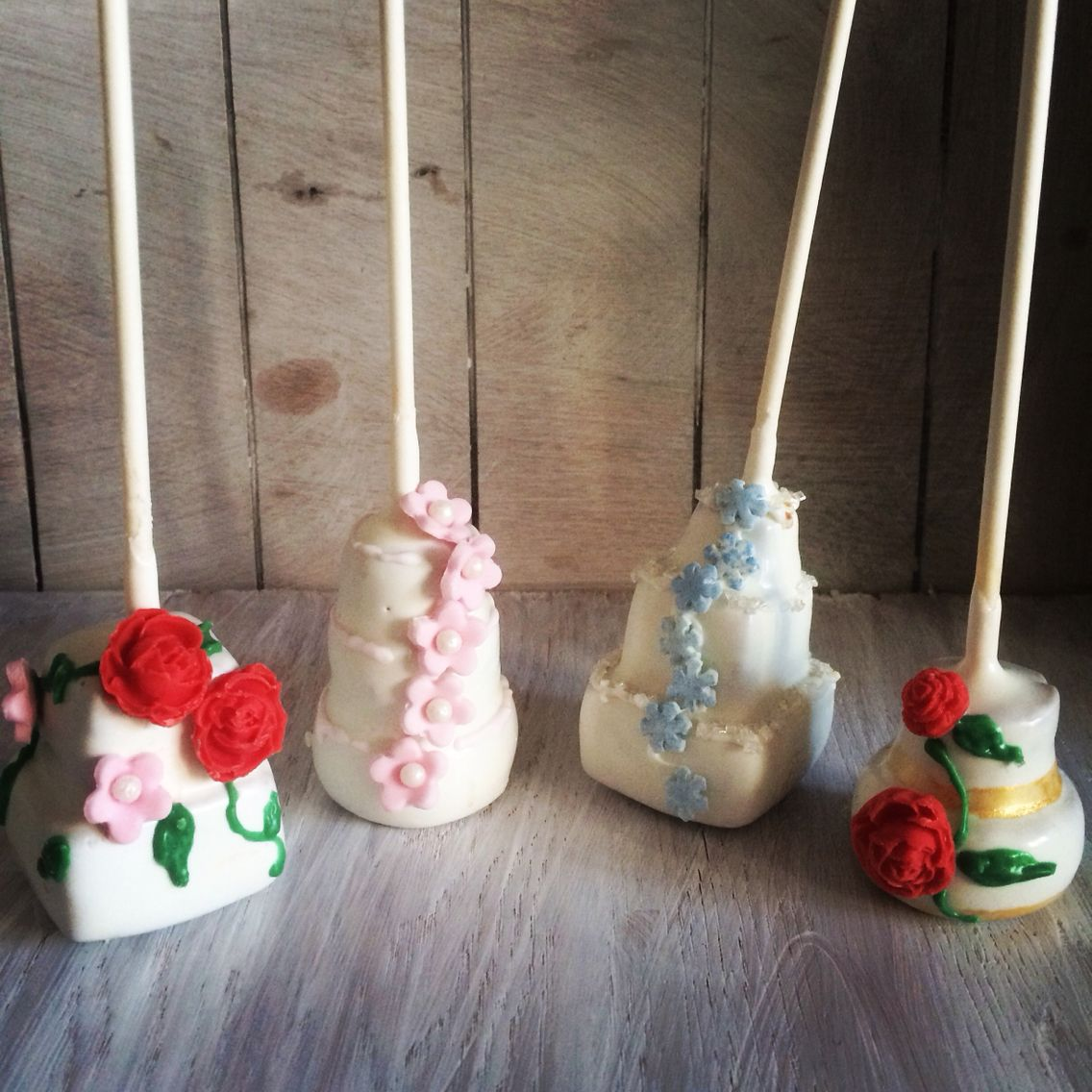 Love these cute little cake pop wedding cakes available in any