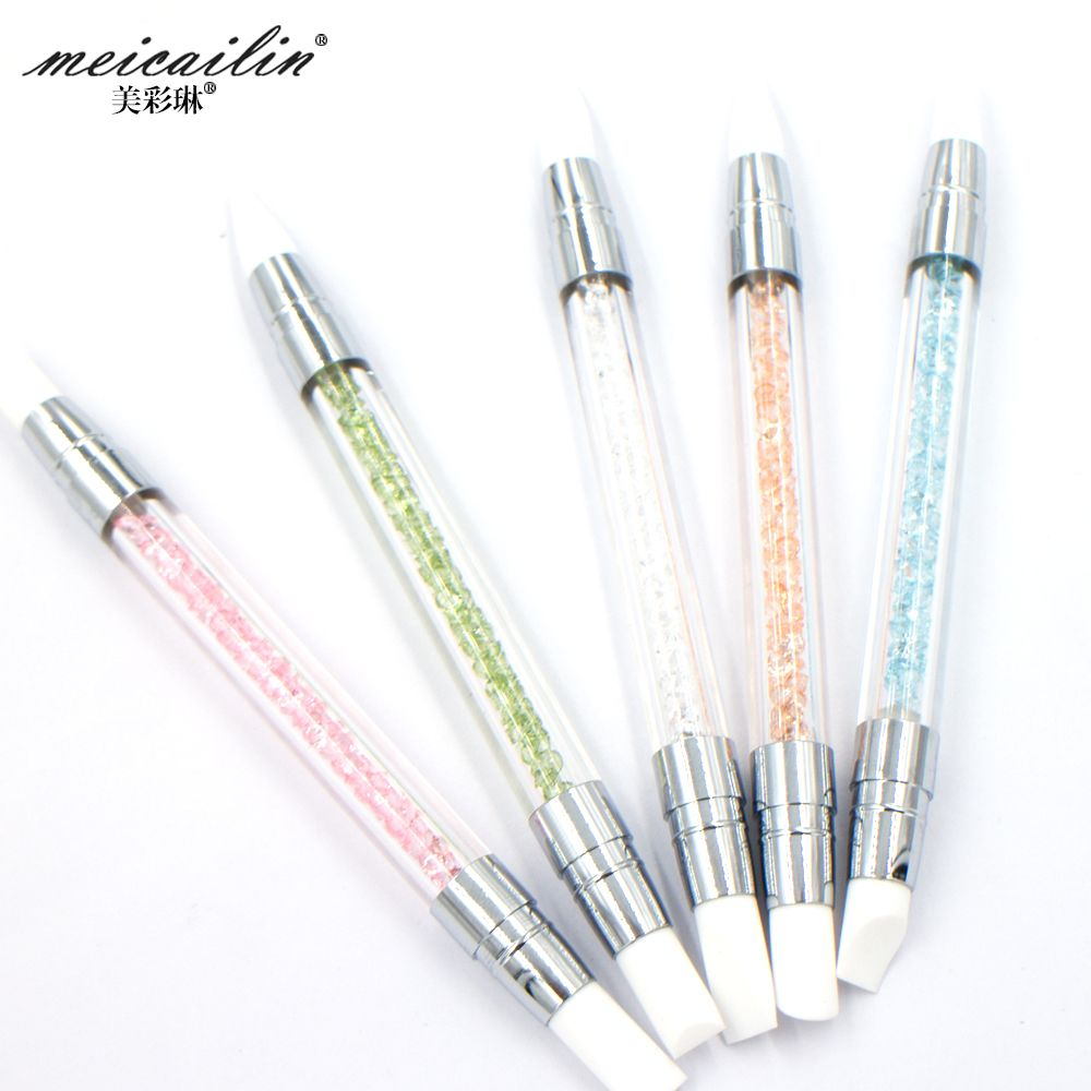 2017 new design 5pcs silica gel pen nail art brush tools uv gel yimart silica gel pen nail art brush tools uv gel brush silica gel pencil nail art equipment soft head nails tools check out this great product prinsesfo Images