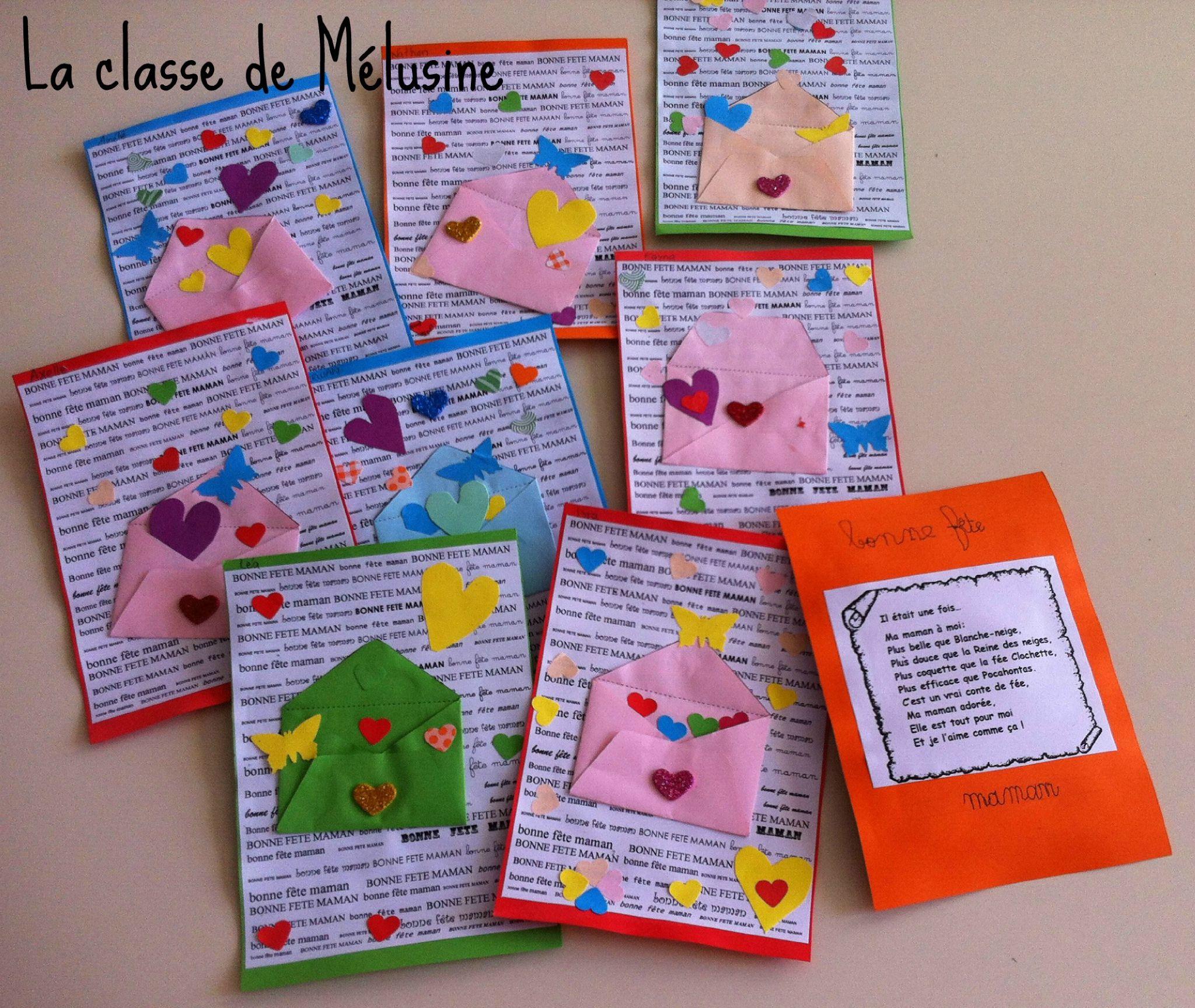 carte fete des mères maternelle carte lâcher de coeurs (avec images)   Carte fête des mères maternelle