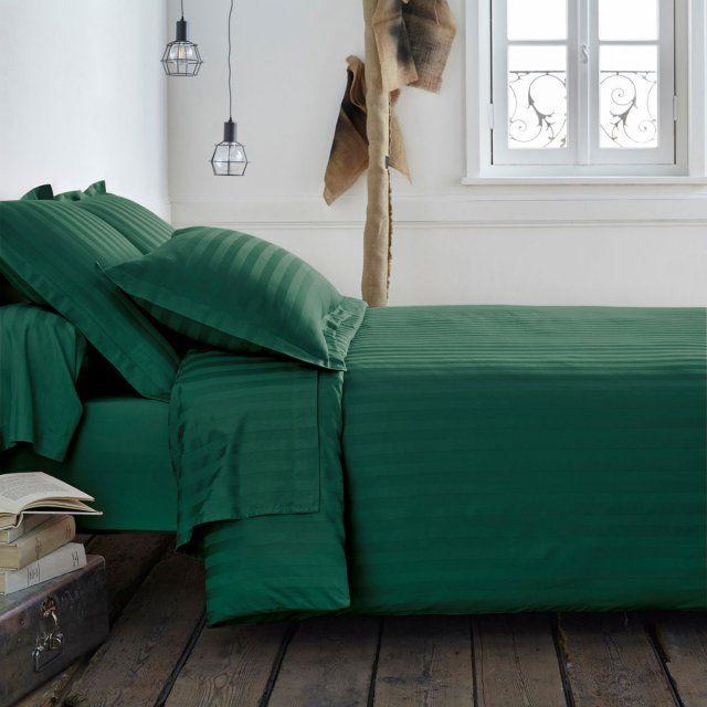 On Craque Tous Pour Le Vert Foret Striped Bed Sheets Bed Bedding Sets