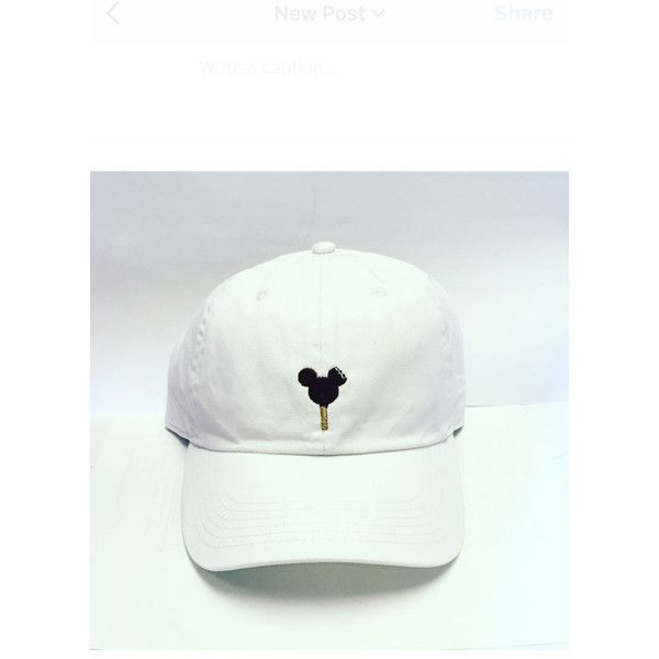 3b2d0079dba Mickey Ice Cream Bar Baseball hat Disney World Disneyland dad hat-... ( 22)  ❤ liked on Polyvore featuring accessories