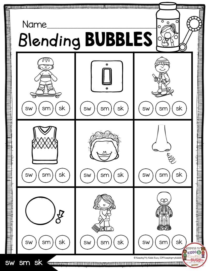Phonics Unit 5 Consonant Blends Freebie Keeping My Kiddo Busy Consonant Blends Worksheets Blends Worksheets Phonics Kindergarten [ 1138 x 874 Pixel ]
