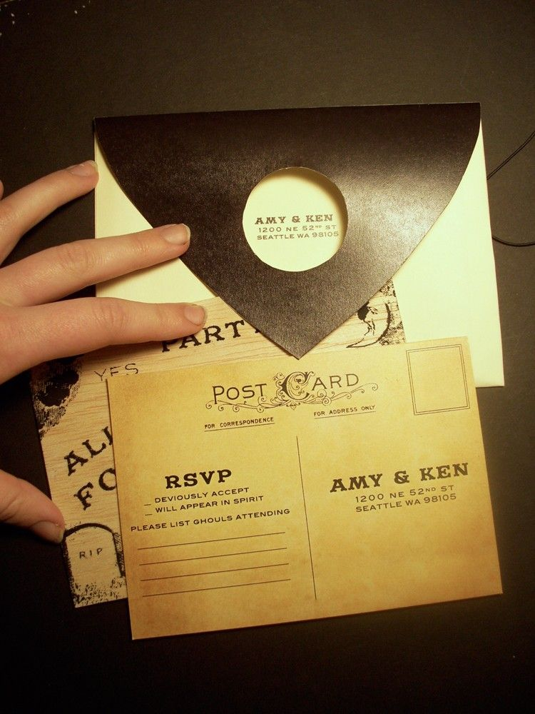 Ouija Board (Halloween) Invitation package (set of 10). $100.00 ...