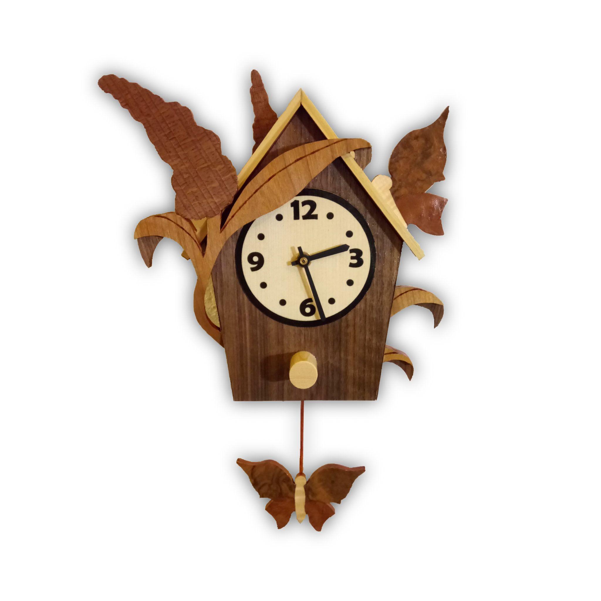 Butterfly Buddleia Pendulum Wall Clock Pendulum Wall Clock Wall Clock Design Wall Clock
