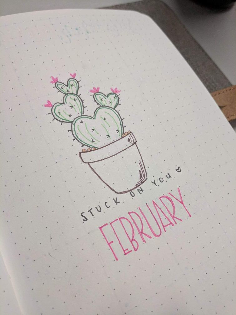 February Doodles Artivies Bullet Journal Inspiration