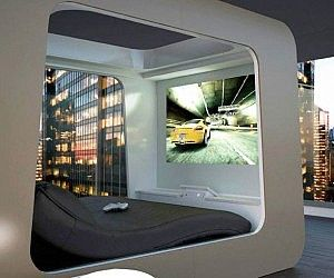 futuristisches möbeldesign ideen bed entertainment system futuristisches schlafzimmer futuristische möbel interieur jungen schlafzimmer dekor shit want pinterest design