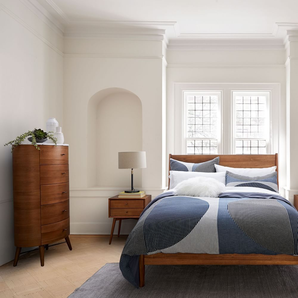 Best Penelope Narrow 5 Drawer Dresser Acorn W Marble Top 400 x 300