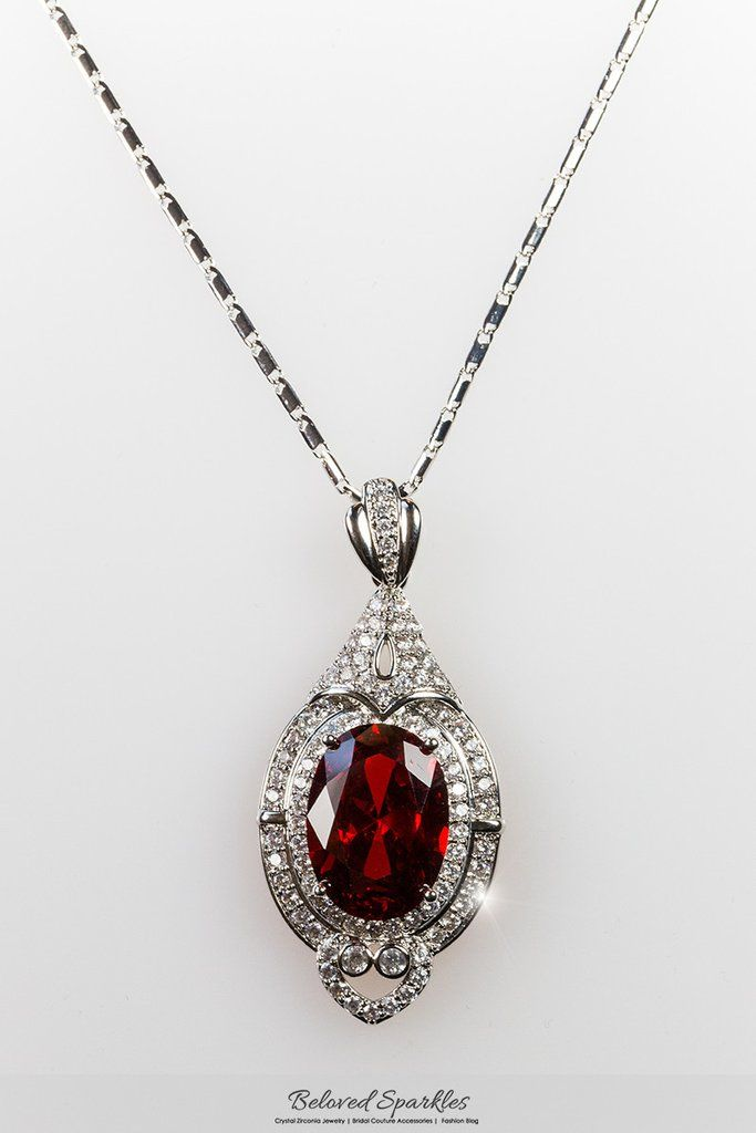 Adela vintage art deco ruby red pendant necklace 27 carat cubic adela vintage art deco ruby red pendant necklace 27 carat cubic zirconia hotel aloadofball Gallery