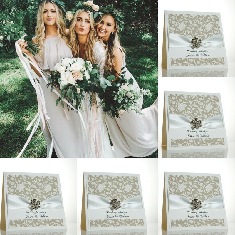 Floral Wedding Invitations. Autumn Weddings.