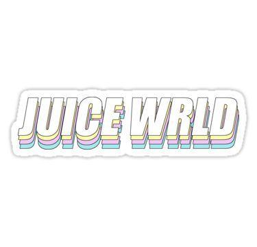 Juice Wrld Sticker Hydroflask Stickers Tumblr Stickers Music Stickers