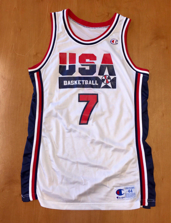 Vintage 1992 Larry Bird Dream Team USA Authentic Champion Jersey Size 44  michael jordan penny hardaway charles barkley boston celtics nba by ... 90c397fb8