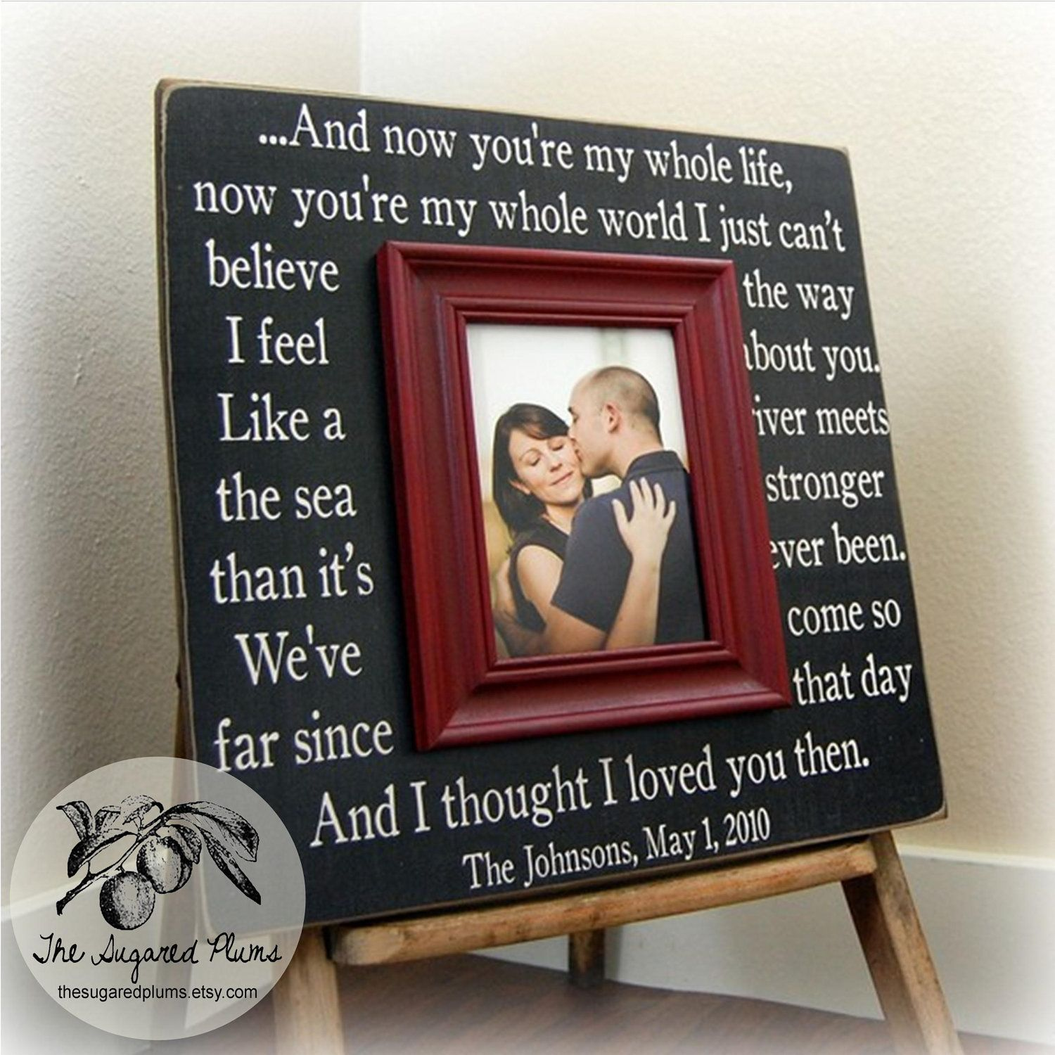Wedding gift custom wedding frame unique wedding gift custom wedding frame personalized picture frame by thesugaredplums 7500 jeuxipadfo Gallery