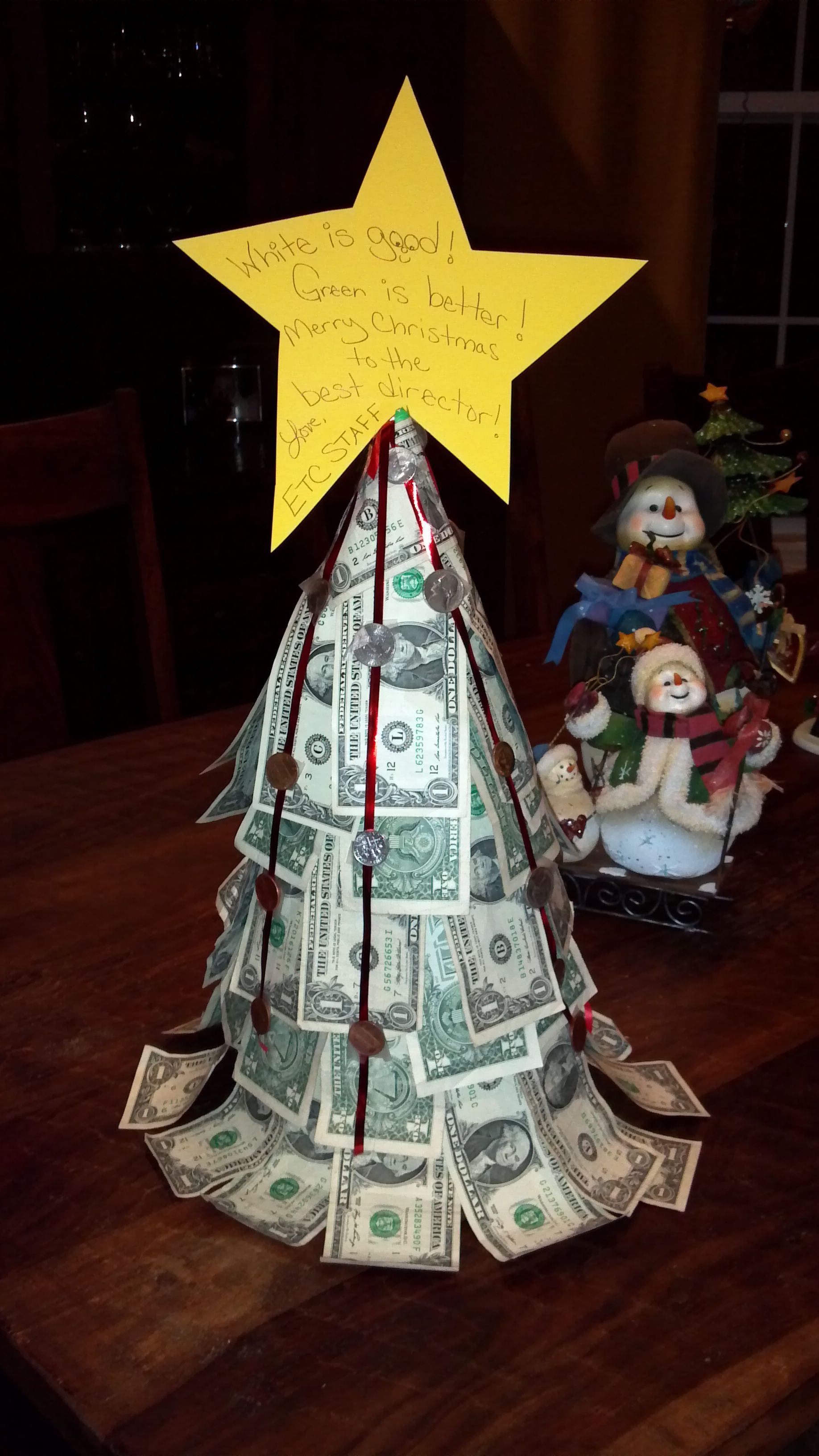 Christmas money treestead of gift cards for teacherske instead of gift cards for teacherske them a money treerland are coinsring garland through hole at top and tape to inside of tree negle Choice Image