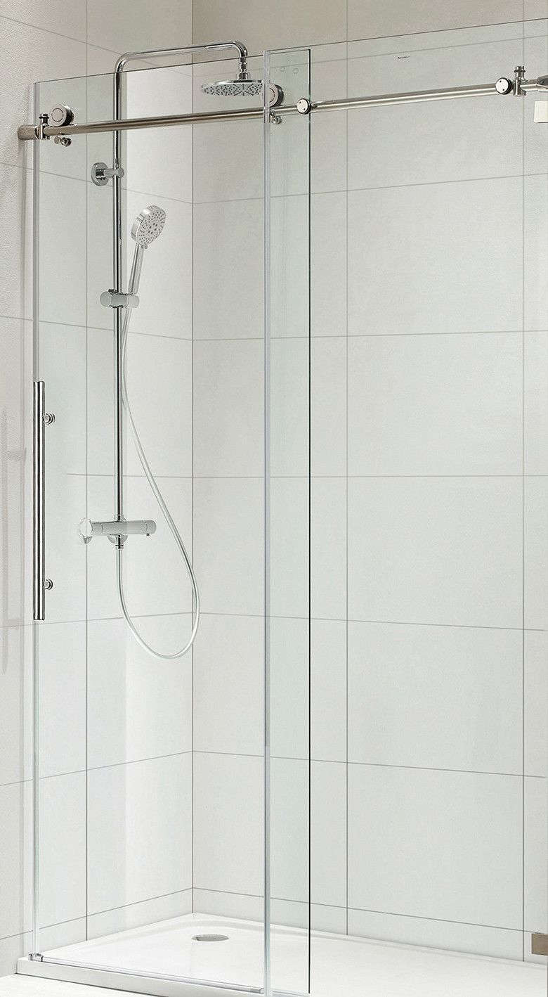 Paragon Bath Trident Lux Frameless Sliding Shower Door In