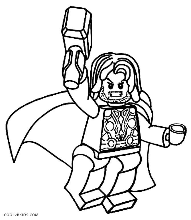 Lego Marvel Coloring Pages To Download And Print For Free: Printable Thor Coloring Pages For Kids