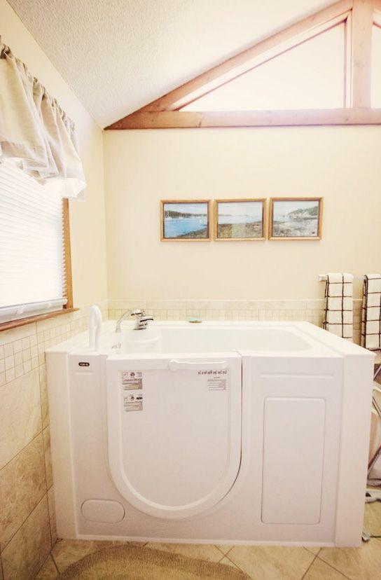 Scooch on in to your new SanSpa Slide-In Bathtub! Love a good soak ...
