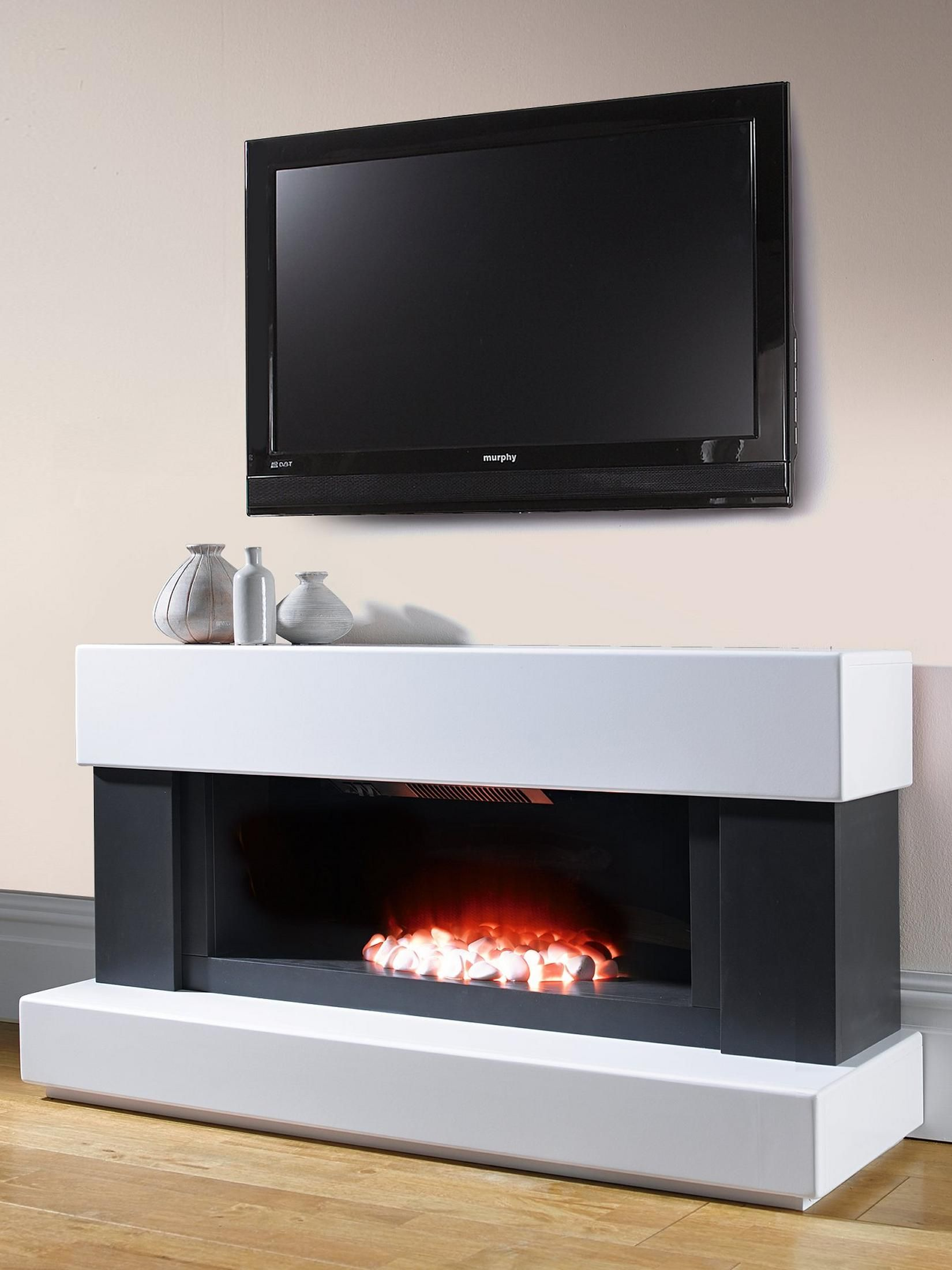 adam fire surrounds adam verona electric suite verona white and grey