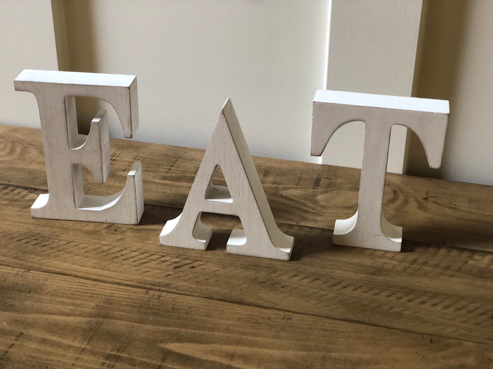 Eat Sign Kitchen Sign Pick Color Wood Sign Rustic Eat Sign Eat Letter Eat Signs Wooden Signs Kitchen Decor Farmhouse Sign Rustic Sign In 2020 Wooden Signs Rustic Signs Farmhouse Signs